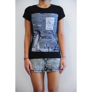 Women's round neck graphic digital print black regular fit art t-shirt - Missing unicorn, s