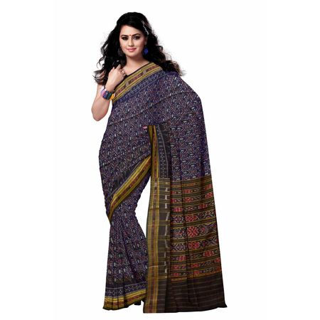 OSS7515: Blue color Indian handloom cotton sarees online shopping