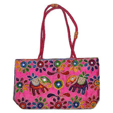 Pipili Handmade Bag Made Of Thread And Mirror Work AJ001258
