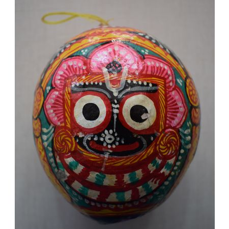 OHP046: Odisha patachitra painting's on Coconut Shell.
