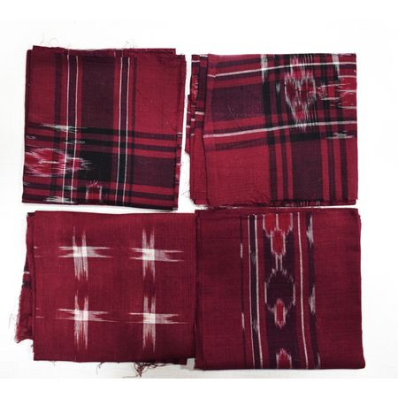 Handloom Cotton Handkerchief of Odisha, Sambalpur AJ001707 (set-4)