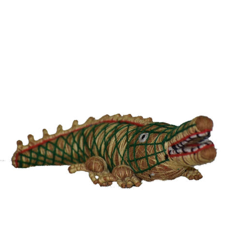 OHA044: Pipli Crocodile design Handmade coconut coir Handicrafts