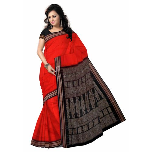 OSS135: Bomkai Cotton Saree - Sambalpuri