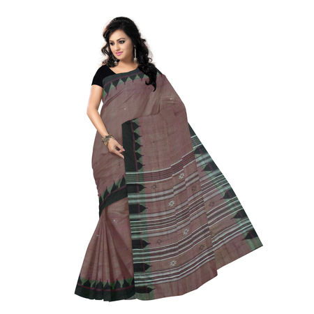 OSS9122: Traditional Light Maroon Kotpad Tussar-Cotton Saree