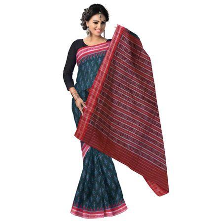OSS7518: Green handloom Cotton sarees for office wear