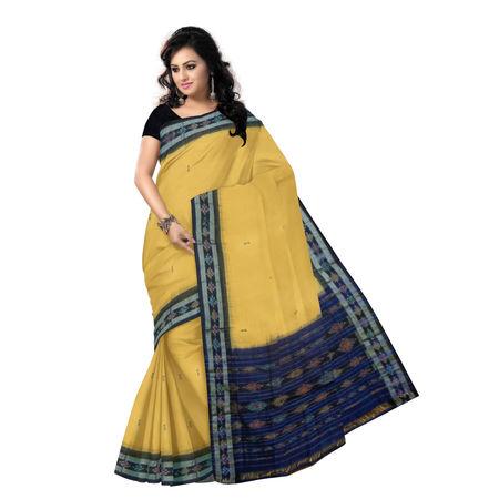 OSS13500: Buti design Black Cotton Saree of Odisha