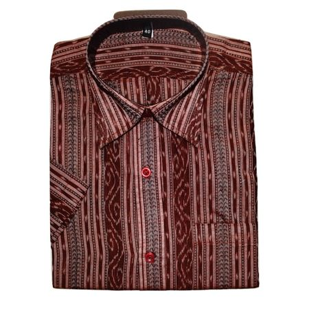 OSS3456: Handloom Shirt's of odisha. (Size-40)