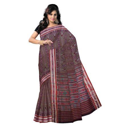 OSS9032: Maroon color handloom cotton sarees for festival wear.
