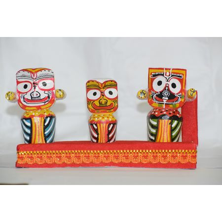 OHW013: Wooden handicrafts of Lord Jagannath, Balabhadra and Maa Shubhadra