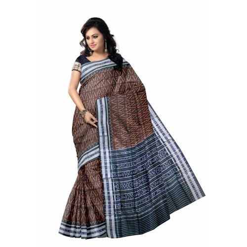 OSS150: Flower design handloom cotton sarees of odisha.
