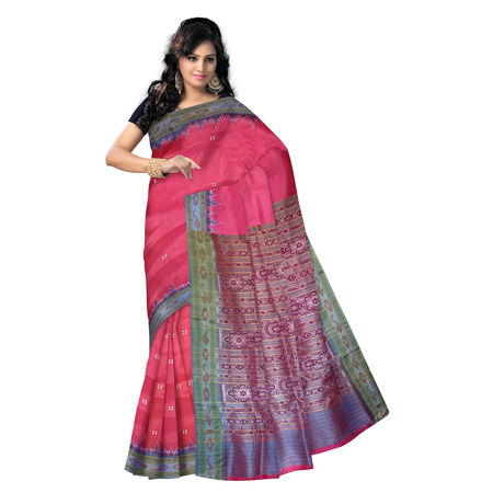 OSS855: Pure Soft Pink color Silk Collection Sarees from Odisha
