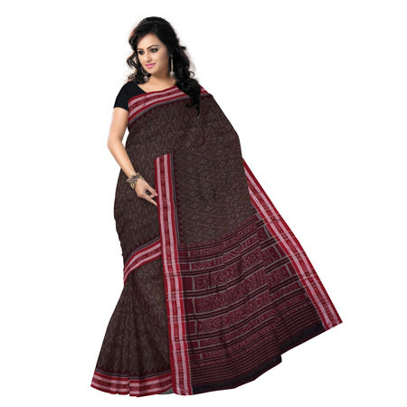 OSS7466 Ethnic choice of Copper Brown colour handmade cotton saree