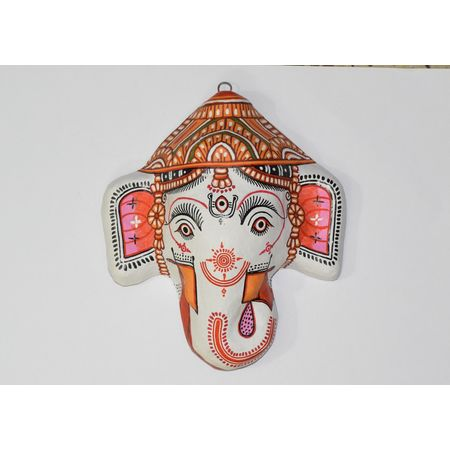 OHP074: Paper mache handicraft of Ganesh.