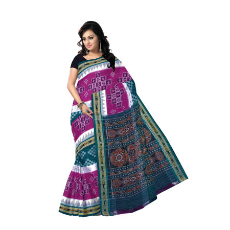 OSS7532: A distinctive style multi-colour pasapalli design handmade cotton sari for gift