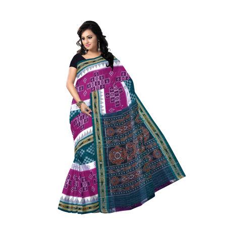 OSS7532: A distinctive style multi-colour pasapalli design handmade cotton sari for gift