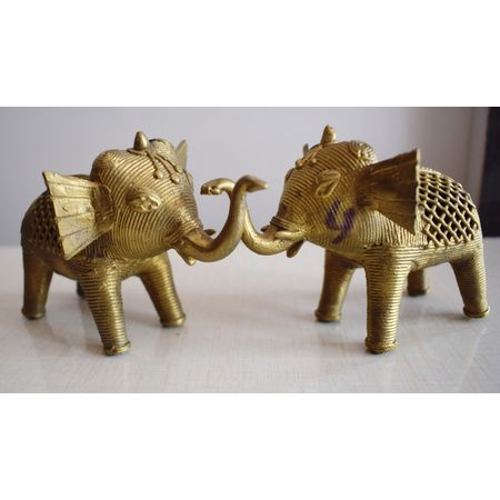 OHD004: Elephant design Dhokra handicraft items.