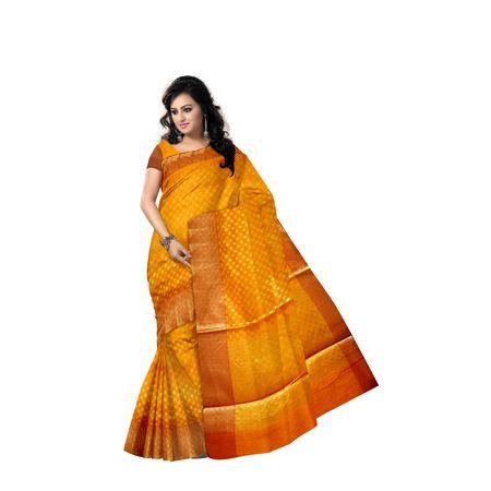 Peru With Golden Handloom Buti Design Banaras cotton Silk Saree of Uttar Pradesh AJ001582