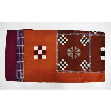 Maroon With Deep Brown Color Combination Of Pasapalli Design Bedsheet Of Sambalpur, Odisha AJ001715