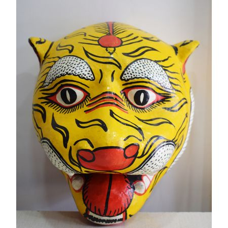 OHP079: Paper mache handicraft of Tiger Face.