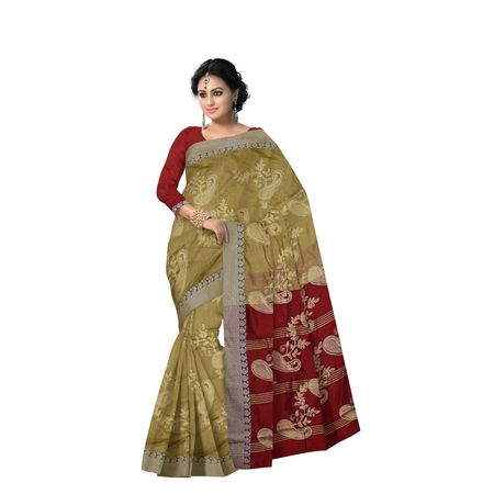 AJ000147: Reddish Maroon handwoven Baha design Silk saree for Party wear