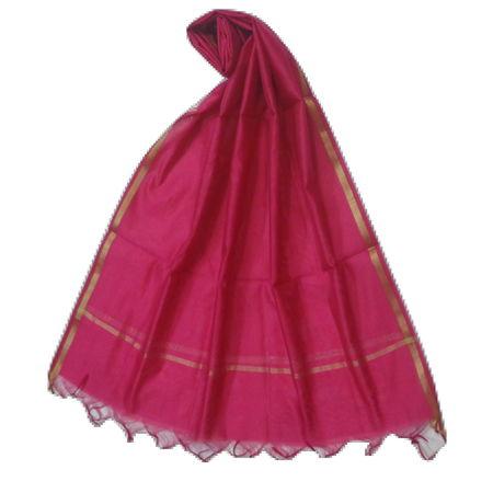 OSSUP157: Pink Color Banarashee Silk Dupatta