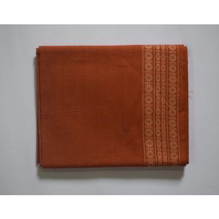 Handwoven Brown Color Sambalpuri Cotton Blouse Piece AJ002054