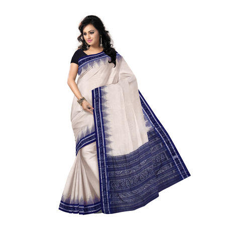 OSS7542: Beautiful Beige-Blue combination Cotton Saree in low price