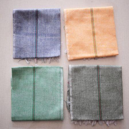 Handloom Cotton Handkerchief Made in South India. AJ001532 (set of -4)