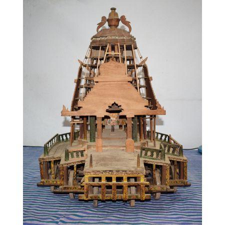 Hand Crafted Scale Model Lord Maa Subhadra Debadalana Ratha AJ001602
