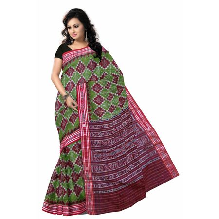 OSS7503: Green color with Pasapalli design handloom cotton sarees