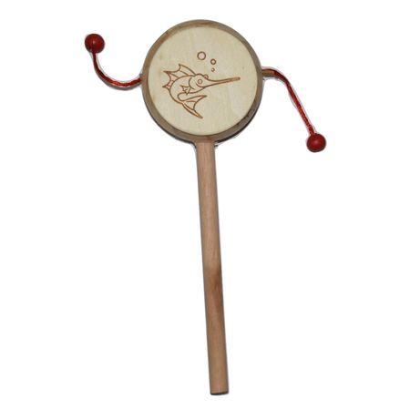 Handmade Wooden Damburu Toy For Children AJ001291