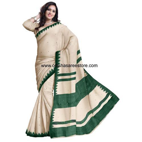 OSS5007: White color Famous maniabandha Khandua silk sarees