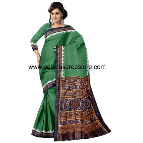 OSS5067: Nuapatna famous handloom silk saree with jhoti border