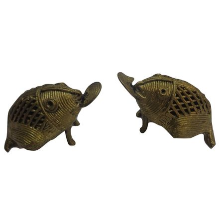 OHD026: Frog design Dhokra Material.