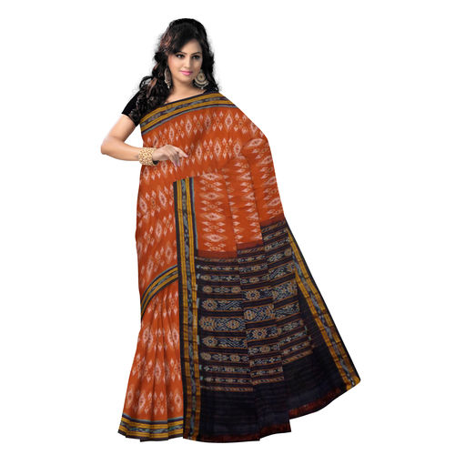 OSS263: Unique Design Master Piece of Handloom Cotton Saree with motif from Odisha