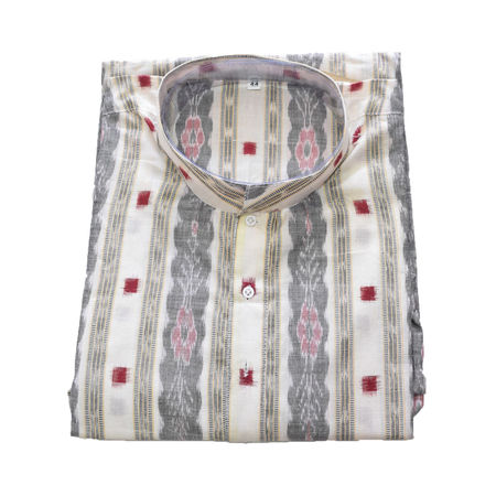 Multicolour Sambalpuri Handloom cotton Kurta for Men made in Odisha Sambalpur AJ001779