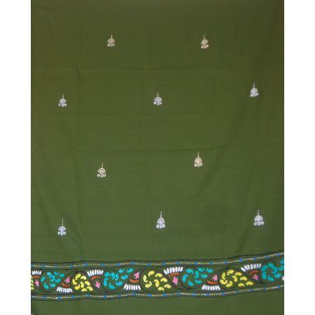 OSS300062: Green color patachitra dupatta online shopping.