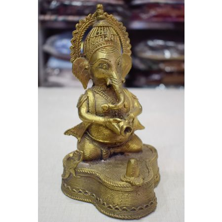 OHD037: Dhokra Ganesh for Home Decor