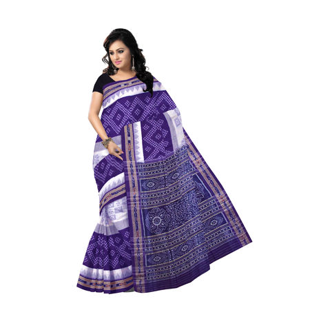 OSS420: Ethnic choice of Pasapalli design Sambalpuri Cotton Saree