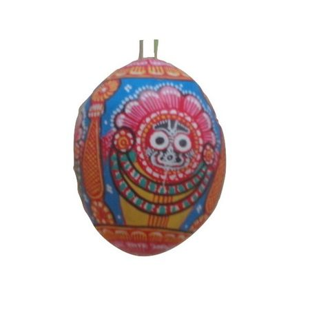 OHP047: Odisha patchitra painting's on coconut shell.
