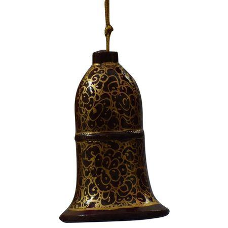 OSSJK003: Handcrafted paper mache hanging bell of Kashmir