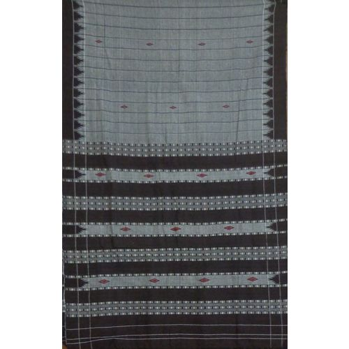 OSS002: Ethnic tribal design Charcoal Gray with Black Kotpad Stole
