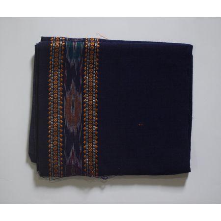 Handwoven Ink Blue Sambalpuri Cotton Blouse Piece AJ002060
