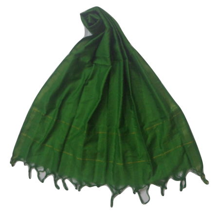 OSSTG016: Handwoven Green cotton Dupatta