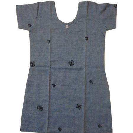 OSS8466: Handwoven cotton Kurti for Girls.