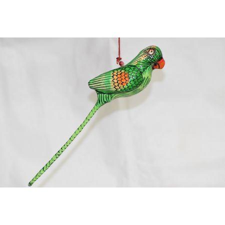 OHP073: Paper mache handicraft of Parrot.