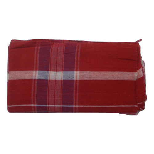 OSSWB131: Handloom West Bengal Red with White Gamcha