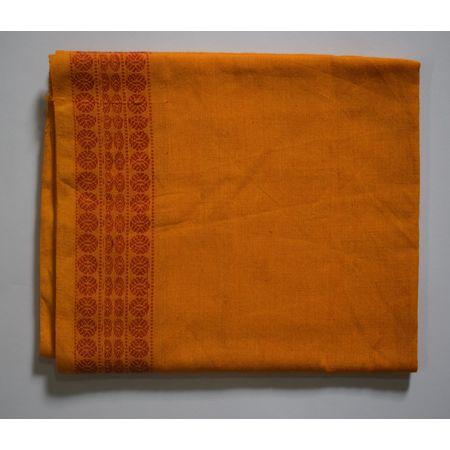 Handwoven Yellow Sambalpuri Cotton Blouse Piece AJ002055