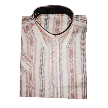 OSS3578: Sambalpuri Half Shirt made in cotton for office wear
