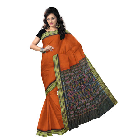 OSS452: Simple Bomkai Handloom cotton Sari| best online shoping site in odisha